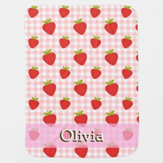 sweet strawberry summer baby stroller blanket 2