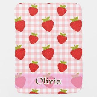 sweet strawberry summer baby stroller cot blanket swaddle blankets