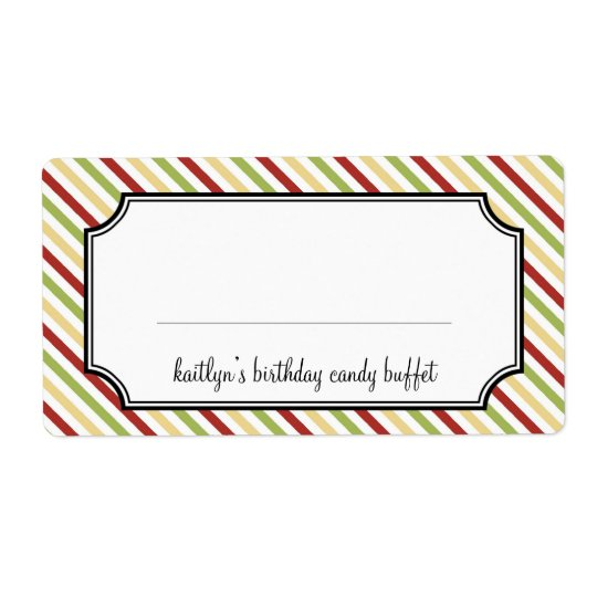 Sweet stripes candy buffet holiday