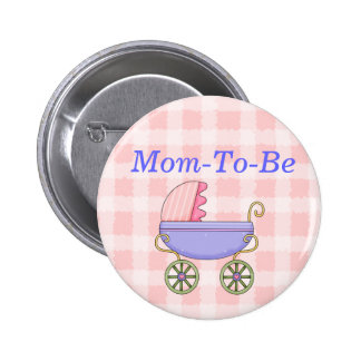 Sweet Stroller Baby Shower Mommy Pin Button