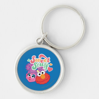 Sweet Stuff Character Silver-Colored Round Keychain
