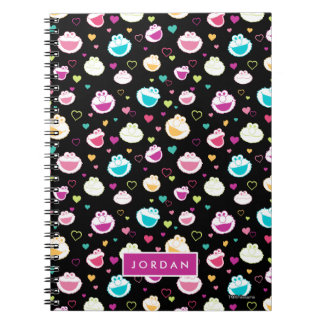 Sweet Stuff Heart Pattern | Add Your Name Spiral Notebook