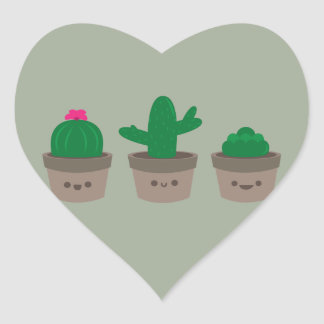 Sweet Succulent Heart Sticker