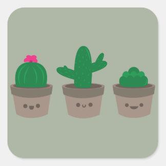 Sweet Succulent Square Sticker