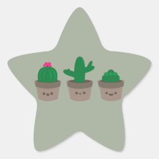 Sweet Succulent Star Sticker