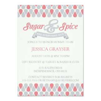 SWEET Sugar and Spice Baby Shower Invitations 2
