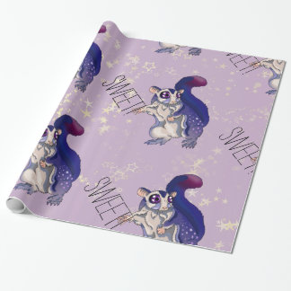 Sweet Sugar Glider Baby Wrapping Paper