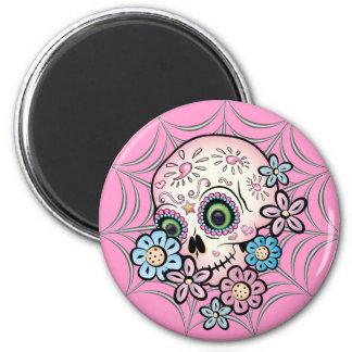 Sweet Sugar Skull 2 Inch Round Magnet