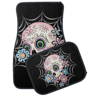 Sweet Sugar Skull Car Mat