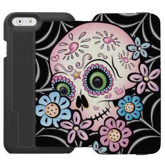 Sweet Sugar Skull Incipio Watson™ iPhone 6 Wallet Case