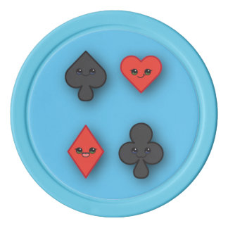 Sweet Suits Custom Background Color Chips Poker Chips