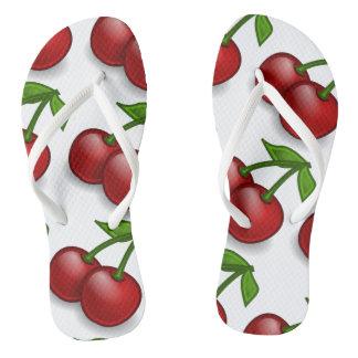 Sweet Summer Cherries Flip Flops