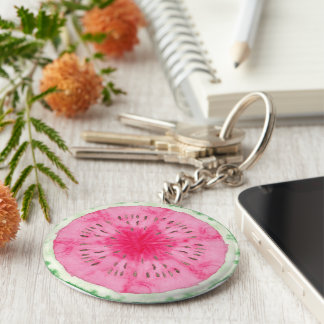Sweet Summer Fun Melon Fruit Party Keychain