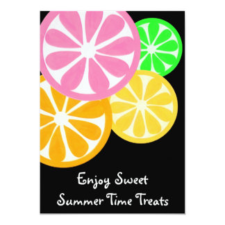 Sweet Summer Time Treats Party Invite