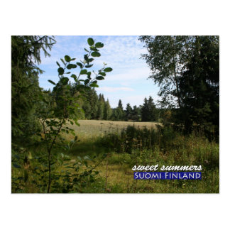 Sweet Summers in Suomi Finland Postcard