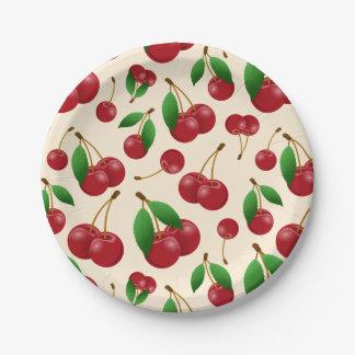 sweet summertime cherries 7 inch paper plate