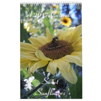 Sweet Sunflowers 2017 Calendar