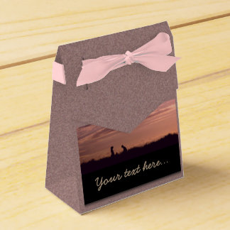 Sweet Sunset Silhouette People Party Favor Box