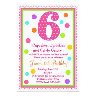 6th Birthday Invites, 1,000 6th Birthday Invitation Templates