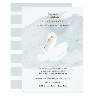 Sweet Swan Baby Shower, Swan Princess Card