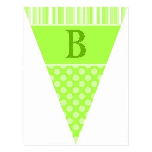 Sweet Taffy Lime Bunting Flag Postcards
