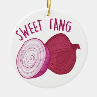 Sweet Tang Round Ceramic Ornament