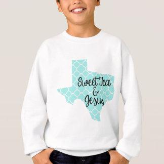 Sweet Tea & Jesus - Texas - Blue Quatrefoil Sweatshirt