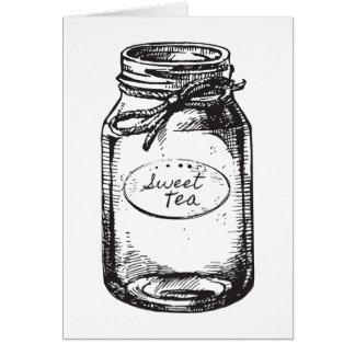 Sweet Tea Mason Jar Note Card