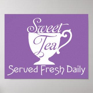 Sweet Tea Served Fresh Daily Restaurant Sign