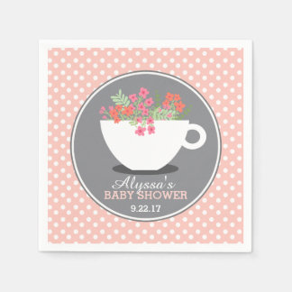 Sweet Teacup Baby Shower Paper Napkin