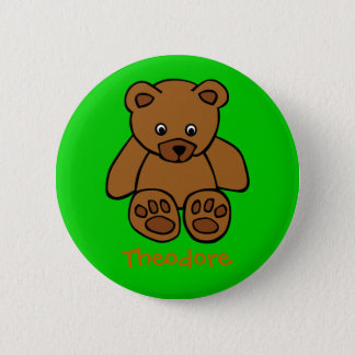 Sweet teddybear 2 inch round button