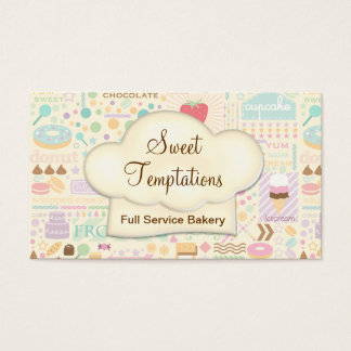 Sweet Temptations Bakery Boutique Business Card