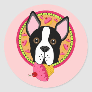 Sweet Terrier Classic Round Sticker
