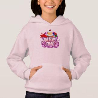 Sweet Time Girls pale pink hooded sweatshirt