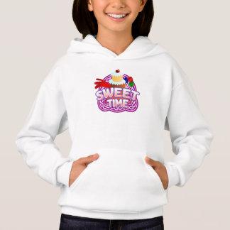 Sweet Time Girls white hooded sweatshirt