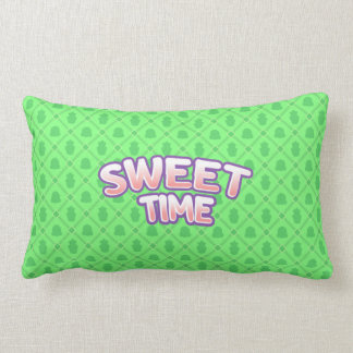 Sweet Time green Throw Pillow