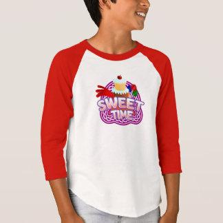 Sweet Time Kids red Raglan T-Shirt