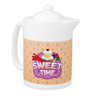 Sweet Time orange Teapot