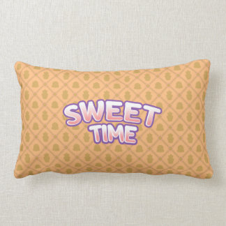 Sweet Time orange Throw Pillow