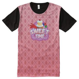 Sweet Time pink All Printed T-Shirt
