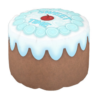 Sweet Time Round Pouf Chocolate Cake