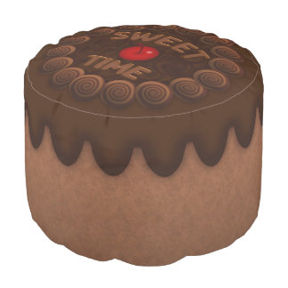 Sweet Time Round Pouf Chocolate Cake 2