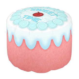 Sweet Time Round Pouf Strawberry Cake