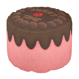 Sweet Time Round Pouf Strawberry Cake 2