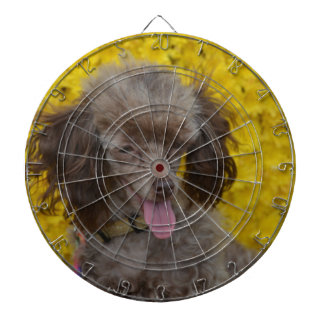Sweet Tiny Brown Poodle Dartboards