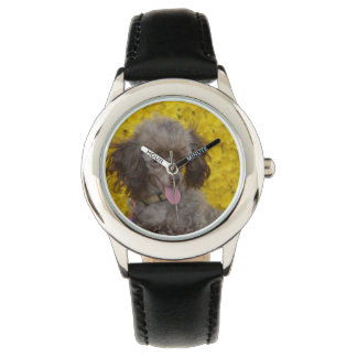 Sweet Tiny Brown Poodle Wrist Watches