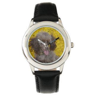 Sweet Tiny Brown Poodle Wristwatch