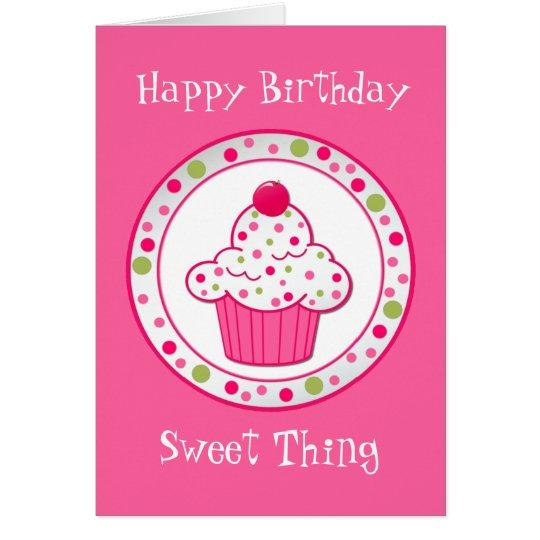 Sweet Treat Girl's Birthday Greeting Card
