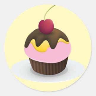 Sweet Treat Sticker, Cupcake Classic Round Sticker