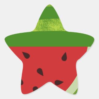 Sweet Treat Watermelons Star Sticker
